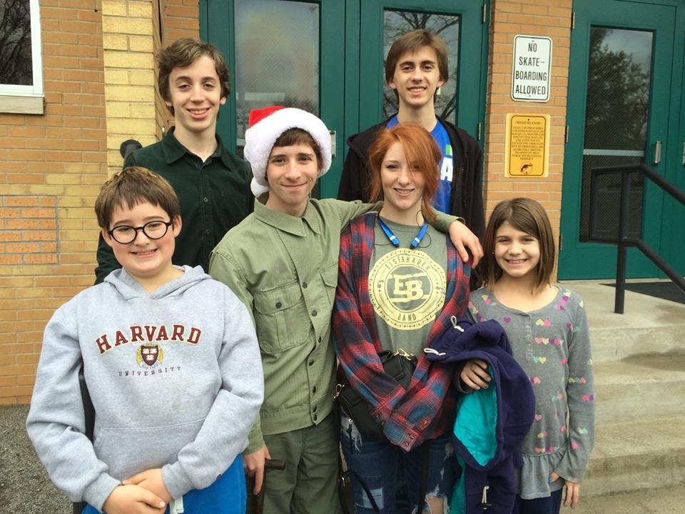 Top row: Christopher Coburn, Stefano Esposito ;Bottom row: Thaddeus Bryant, Andy Eisenhaeur, Millie Eisenhaeur (Top 24 American Idol 2016), Alesia Esposito