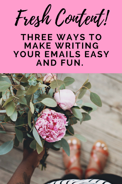 How to come up with new content for your email list - Three ways you can make writing email newsletters easy and fun! uncommonly good biz.png