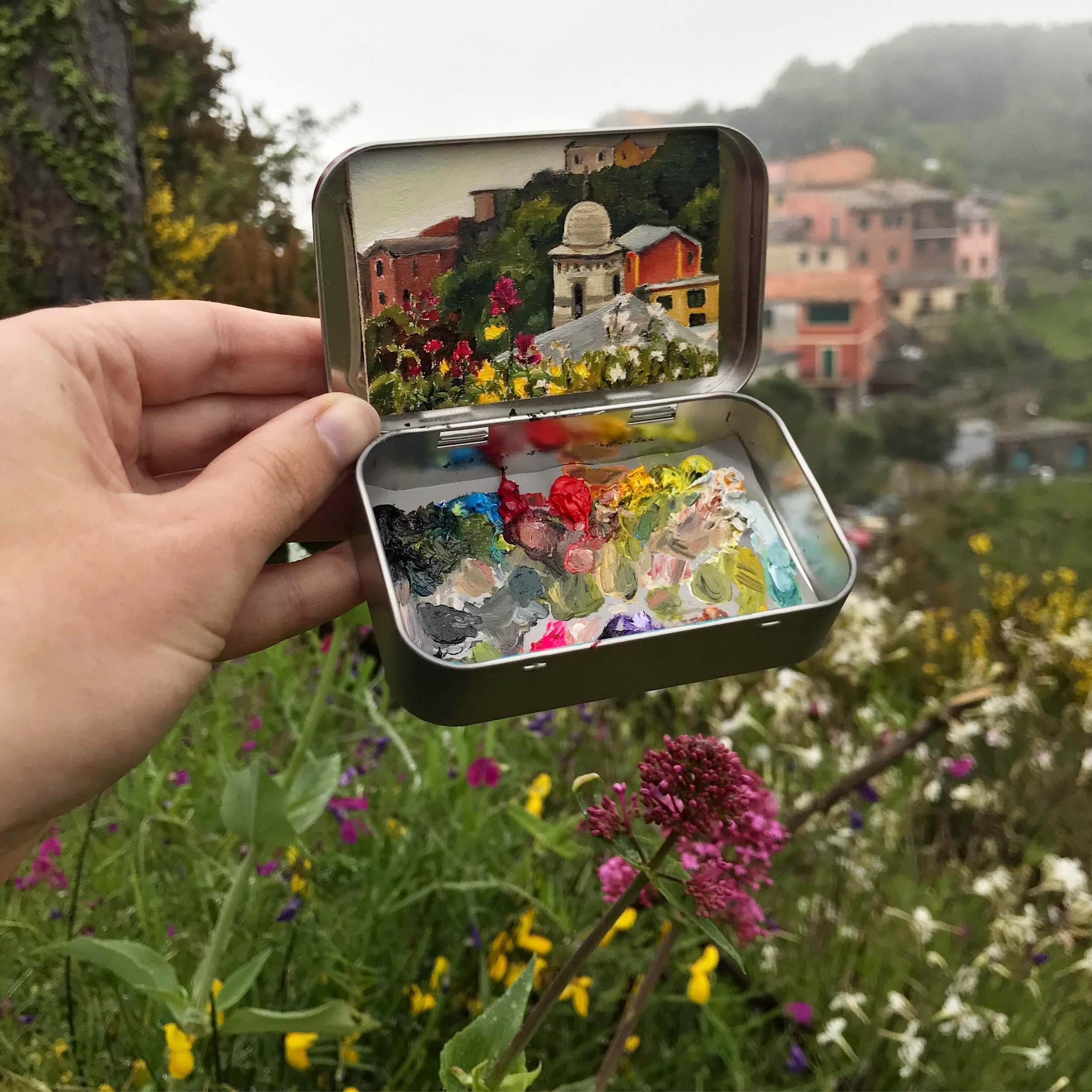 Italy Collection - Mint Tin Paintings