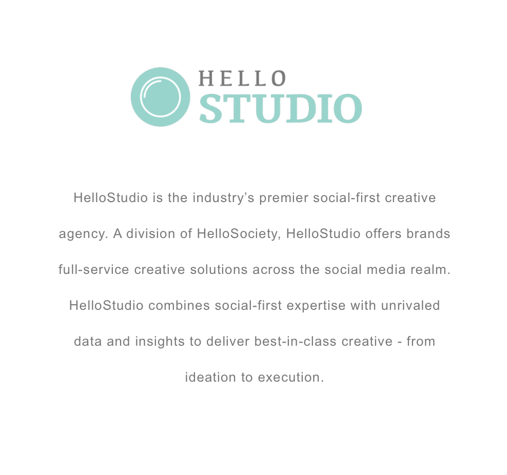 - New York Times' HelloSociety - HelloStudio Division: A Content Creation Agency