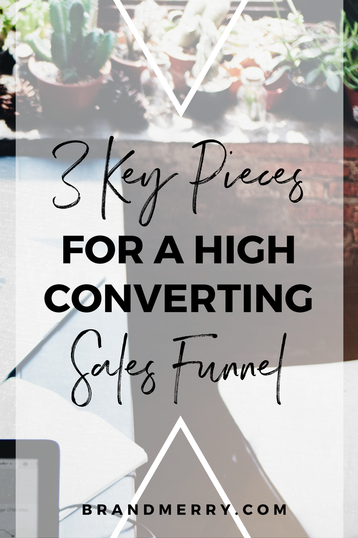 Funnels can be the absolute best thing for your business, you have the potential for passive income, building relationships and signing high-level clients all on automate. If you are considering starting a funnel to your online biz or need to make some tweaks, learn the 3 key pieces for a high-converting sales funnel by clicking the link!