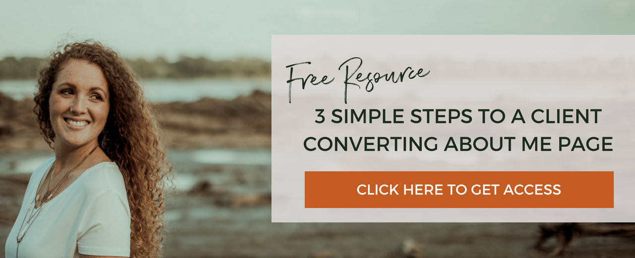3 simple steps to a client converting about me page for your online business