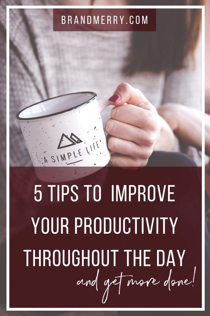 Whether you're working from home, juggling a 9 to 5 or both, it can be really hard to get things done. It's all about productivity lady and in this week's blog post I'm sharing my top 5 tips to increase your productivity throughout the day. These tips have allowed me to build my business while working a 9 to 5, then scaling to 6-figures with a toddler by my side.