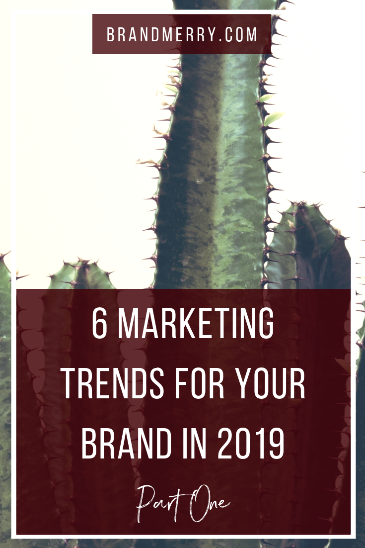 6 Marketing Trends for Your Brand in 2019 {Part One}. It's an exciting year to be an entrepreneur, educator and course creator and in today's blog we are taking a peak at part one of must-haves for your brand. We're diving into 3 of the 6 tips with tangible steps of how you can incorporate it into your business right away.