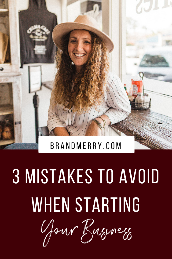 Starting a business or find yourself spinning your wheels? You might be making one of these three mistakes. I'm sharing the worst three mistakes I made in the first eight months of having my business and how to avoid them if just starting out.