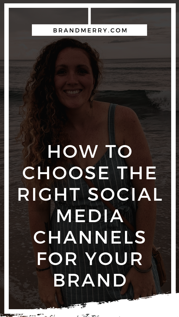 Choosing the right social media platforms for your business can be overwhelming. Understanding where you should be dedicating your time and energy online to attract the RIGHT people is definitely something that so many entrepreneurs struggle with. Should you be on Facebook, Pinterest, Instagram, Youtube…? There are so many possibilities. I've worked with my clients to find the right platforms for them so they love showing up on social media and today I'm sharing that process with you.