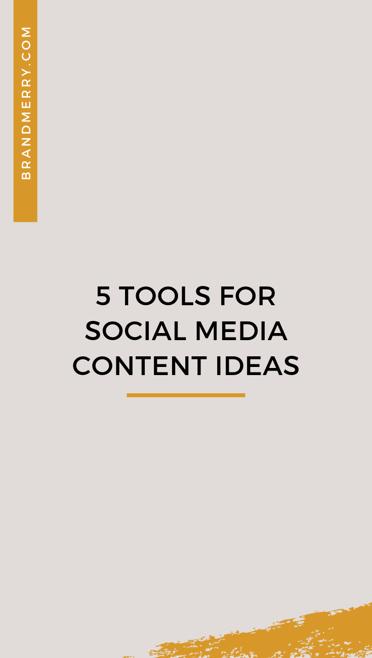 Does coming up with content for social media seem overwhelming? Maybe you feel like you get a good start at the beginning of the month, only to fall off the wagon come the 15th. There are five tools I use every single day in my business to make sure I constantly have a stream of high-quality content ideas. No matter what your industry there tools will work for you.