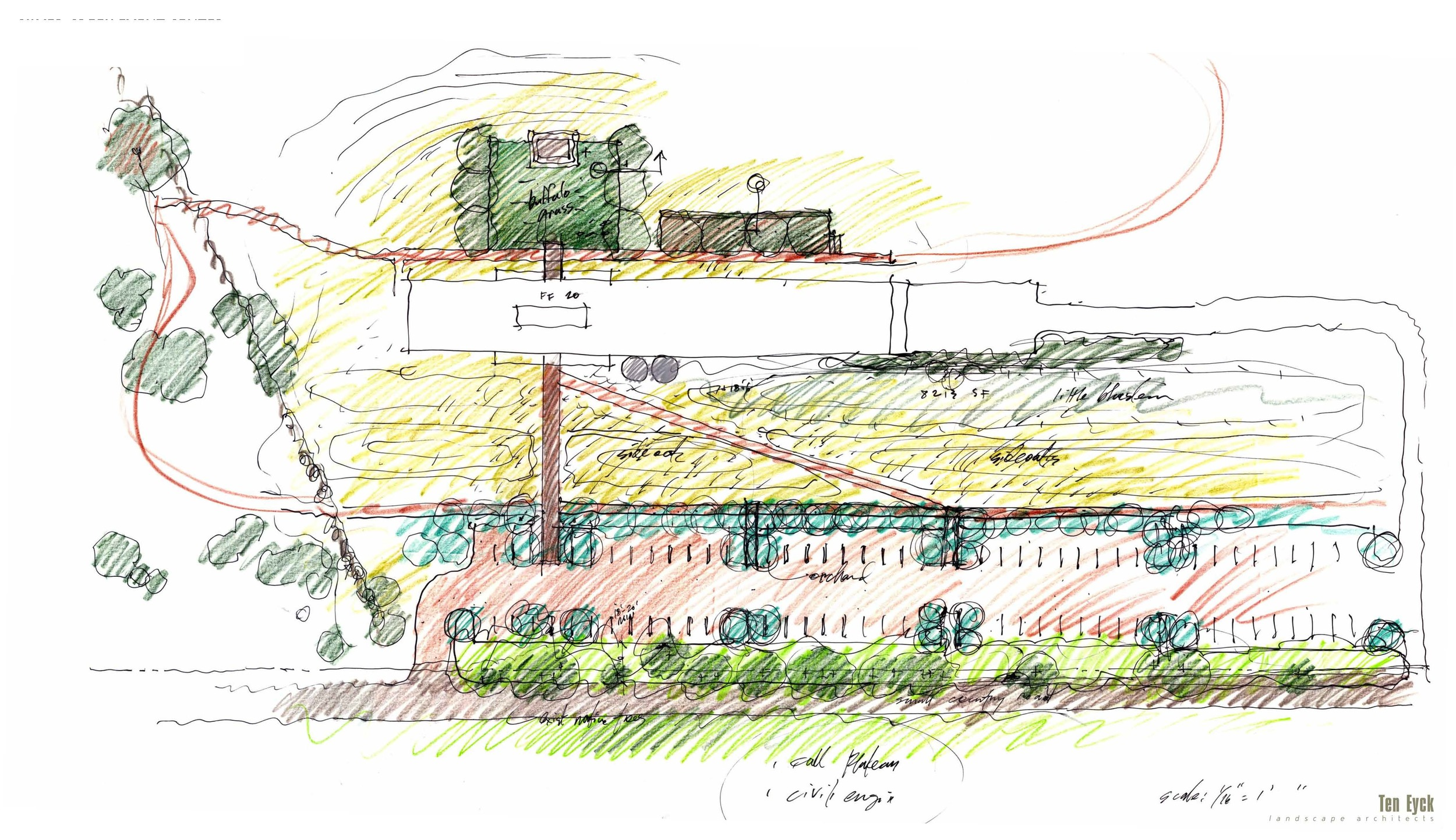 Drawing credit: Ten Eyck Landscape Architects