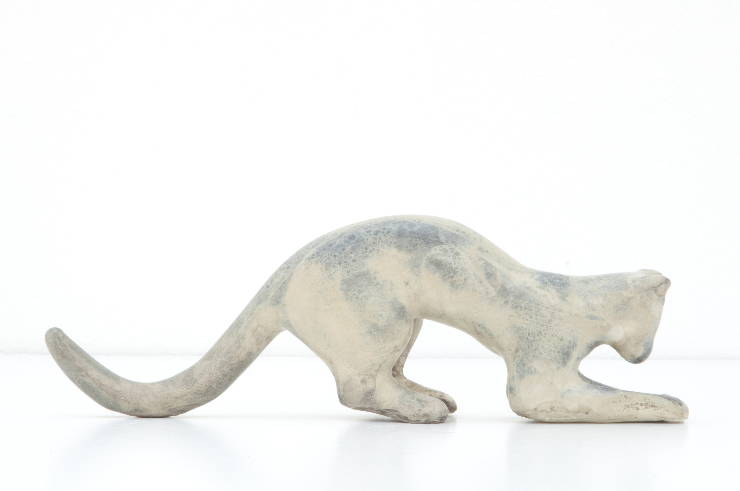 Crouching Cat Maquette