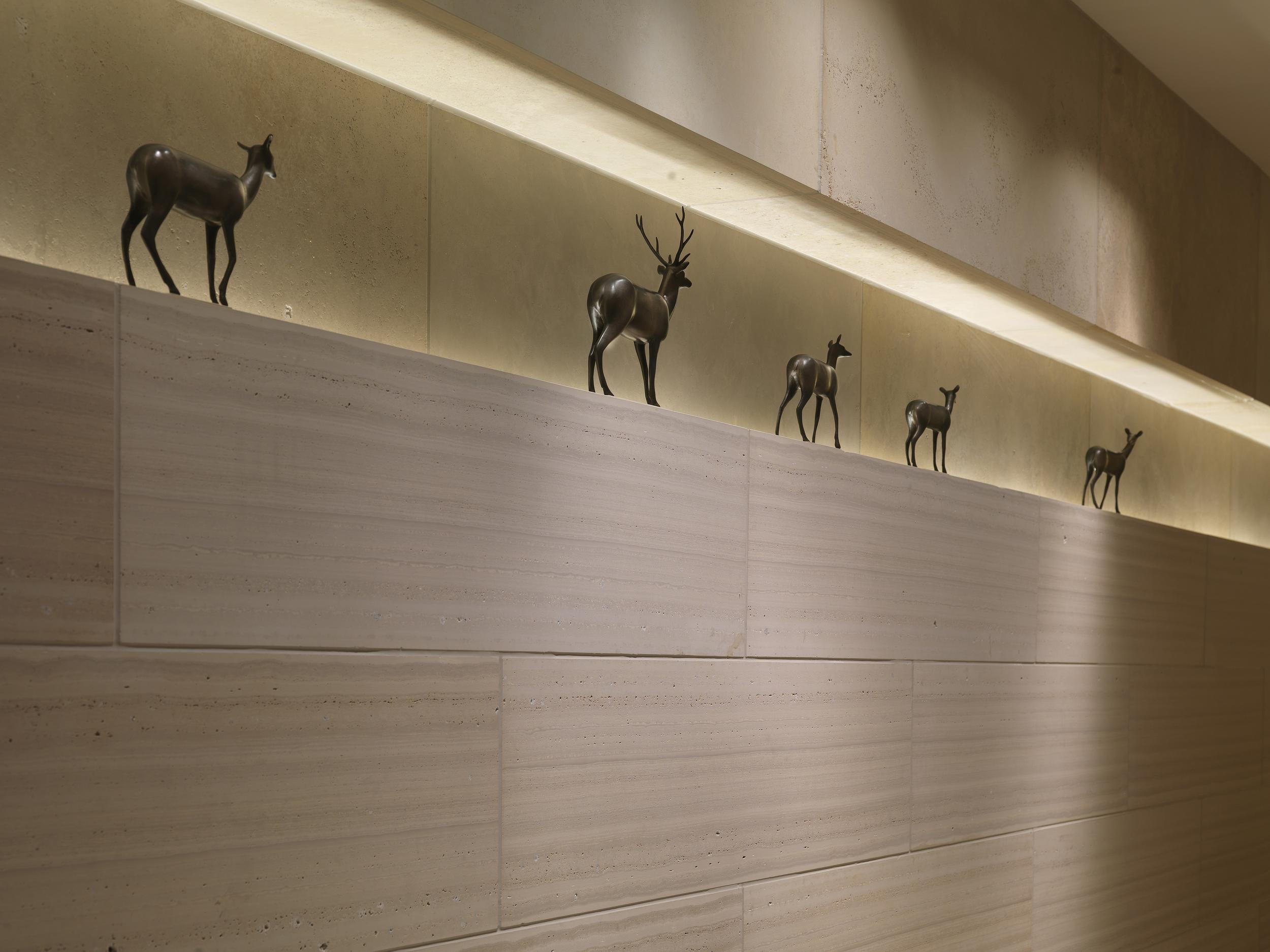 Five Deer Maquettes