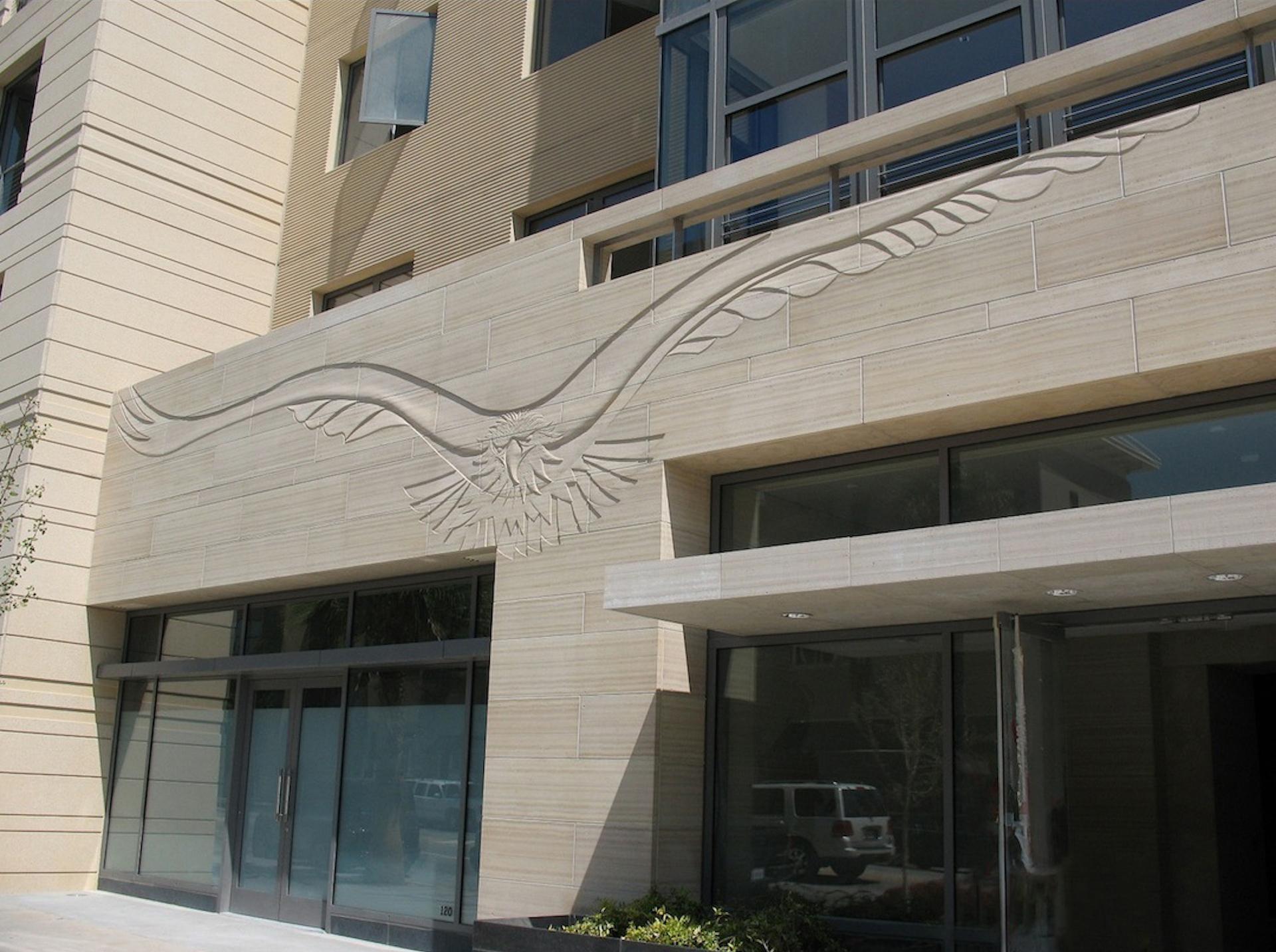 Colorado Blvd. Facade Raptor Relief, Pasadena, CA