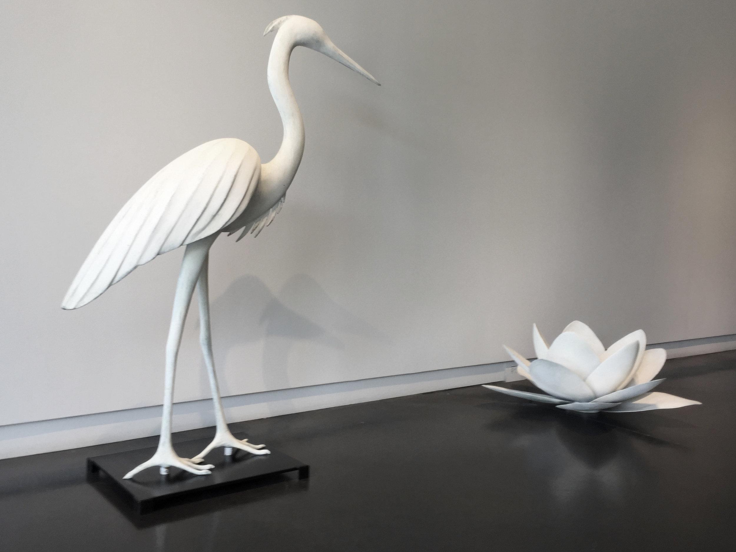 Lotus Flower 3 and Medium Heron