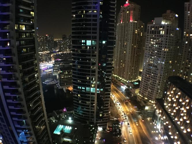 View of Dubai from the Intercontinental Dubai Marina Hotel
