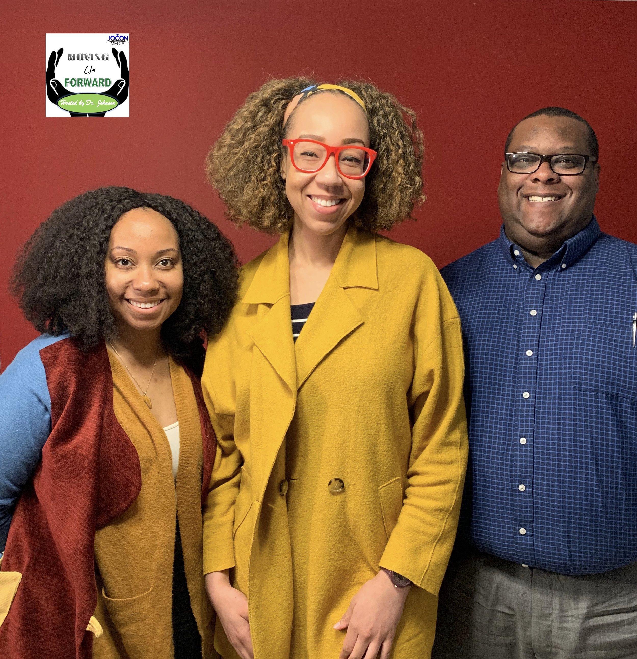 L to R: Kira Van Niel, Host Dr. Raegan Johnson, and Marius Johnson-Malone