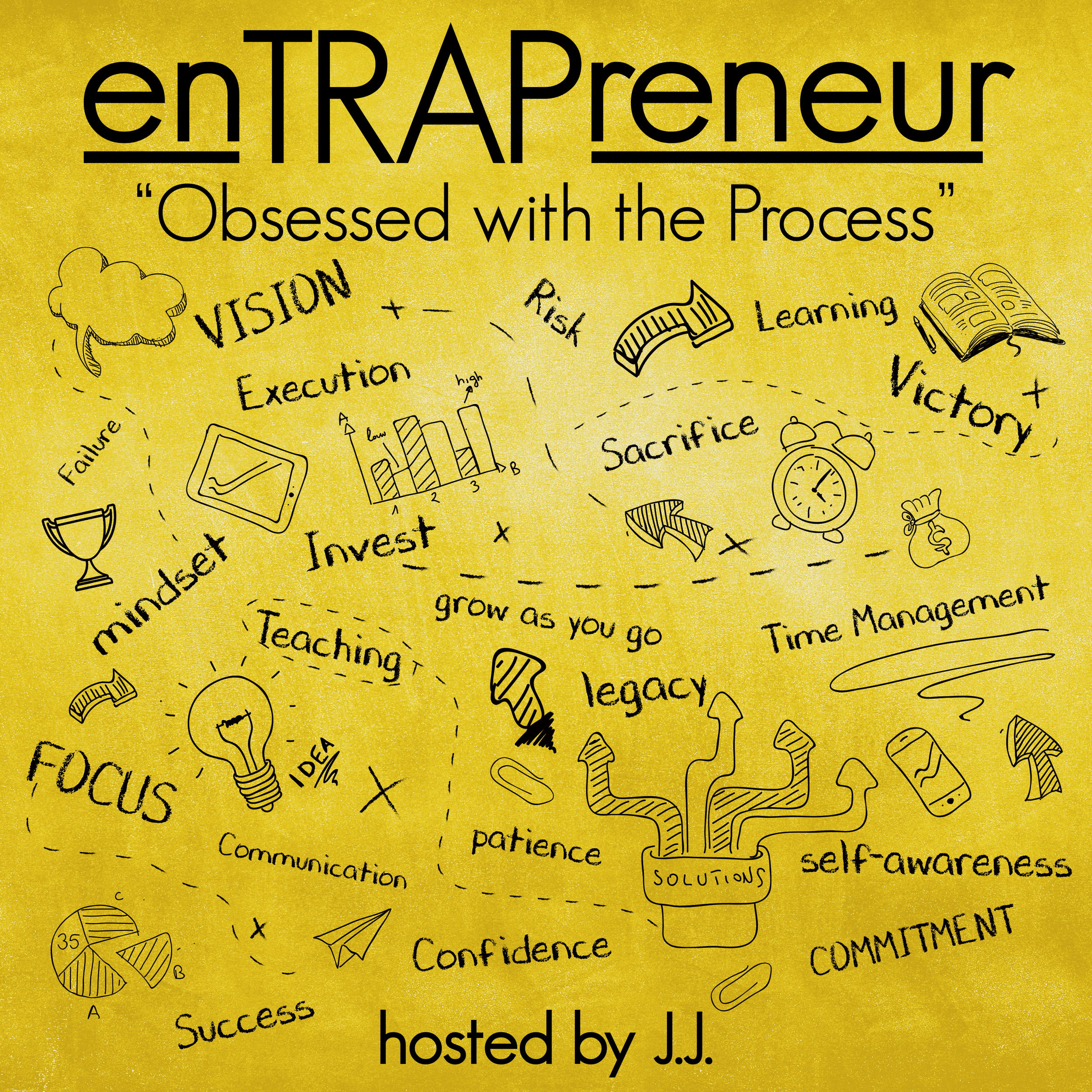 "enTRAPreneur - hosted by J.J.enTRAPreneur is a podcast about the mentality possessed by those executing on their entrepreneurial vision.  J.J. shares his experiences and interviews other enTRAPreneurs who share their journey.  They cover the nuts and bolts of building a business and why it is a must that an enTRAPreneur be ""Obsessed with the Process""."