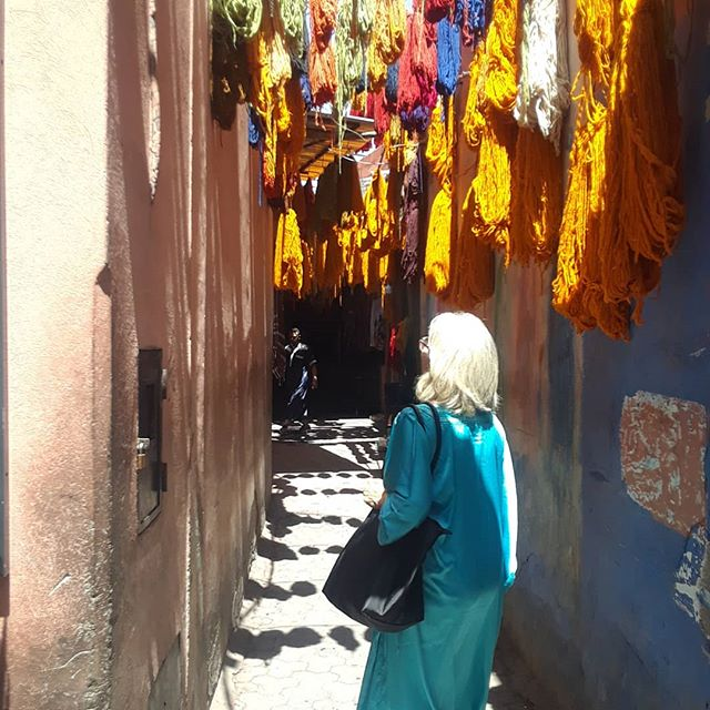 Colors and materials in the souks