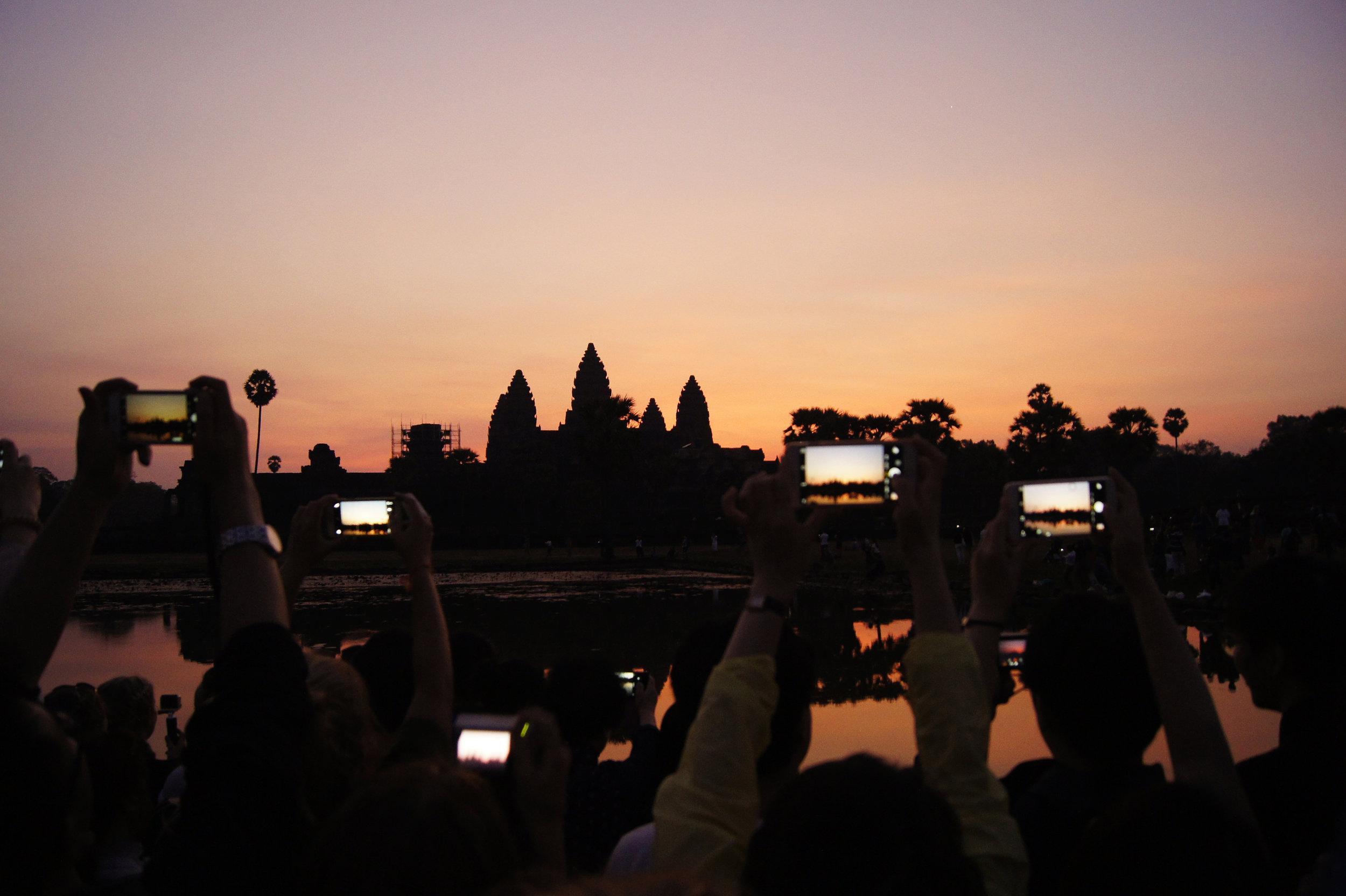 SUNRISE - ANGKOR WAT, SIEM REAP, CAMBODIA.                                                                                       PHOTOGRAPHY: @HILARYAGUILAR