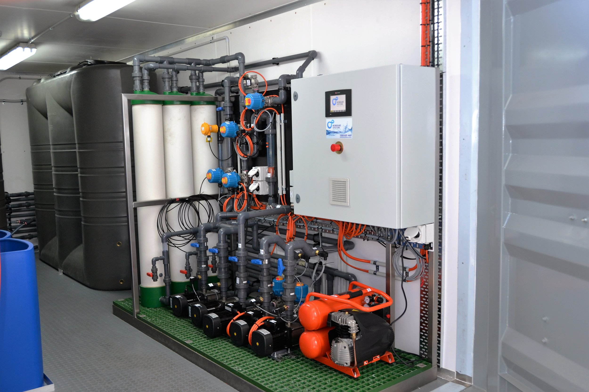 Ultra-filtration (UF) These systems serve as pre-treatment for water sources such as surface water, seawater, brackish water and biologically treated effluent.