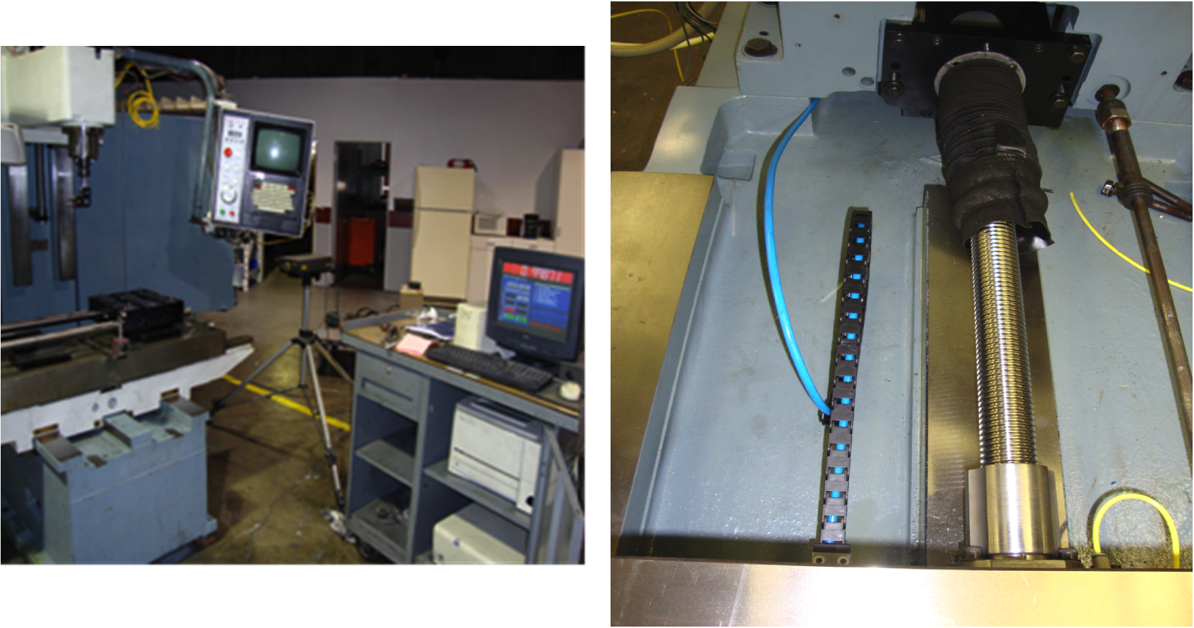 Each Machine is Ballbar/Laser Calibrated and New or Rebuilt Ballscrews and New thrust bearings are installed for each axis