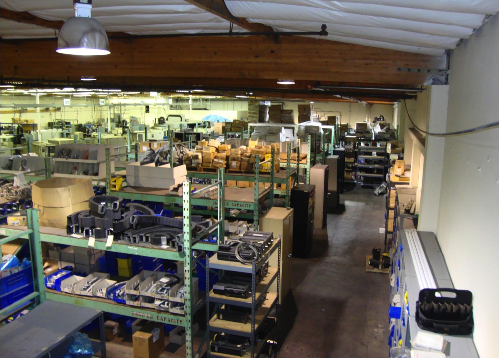West Coast CNC Parts Warehouse – 10,000 Sq Ft.