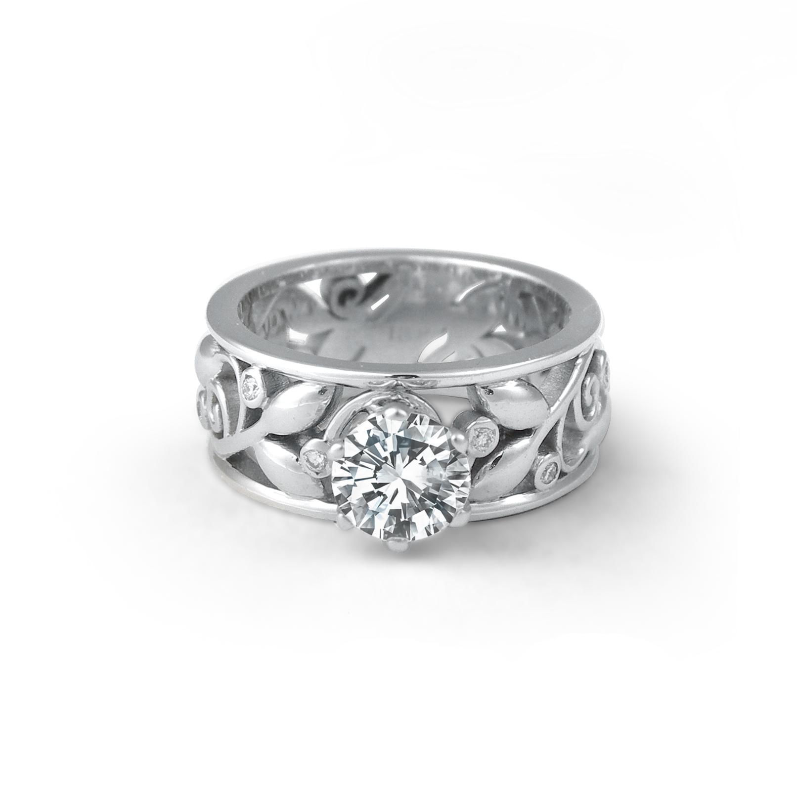 Wide Leaf and Vine Engagement Ring.jpg
