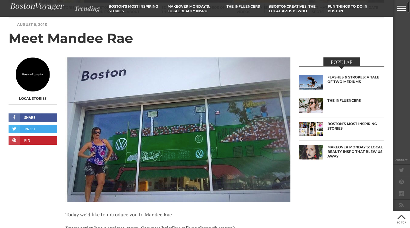Meet Mandee Rae - BostonVoyager catches up with the woman behind Mandee Made