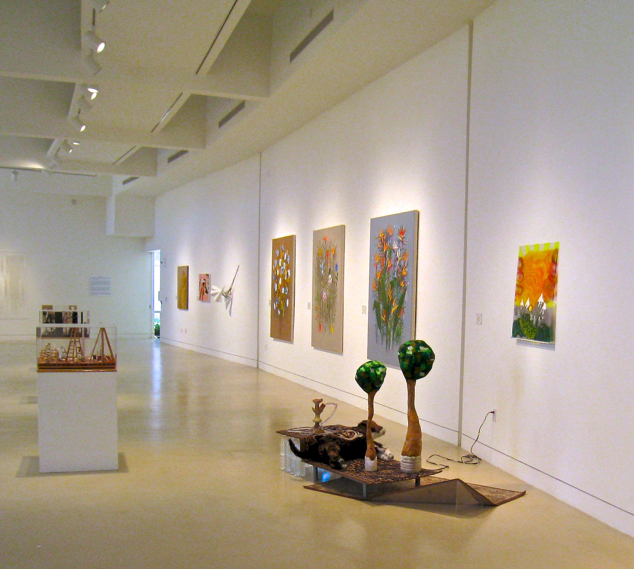 Subliminal Rapture Rug,	2010 installation views, Torrence Art Museum