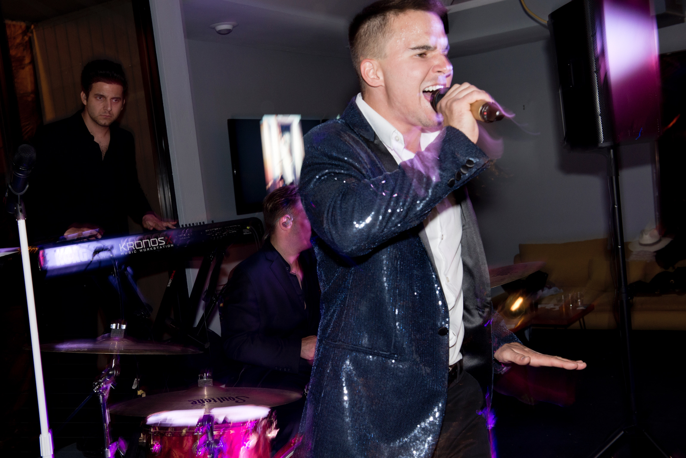 Singing at The Point Holiday Party.jpg