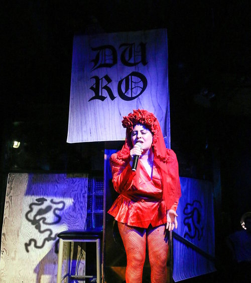 DURO21 con Sufridxs at Berlin Nightclub; Chicago, IL; 2017; role: installation ; pictured: San Cha, photographed by Eric Michael Kommer.
