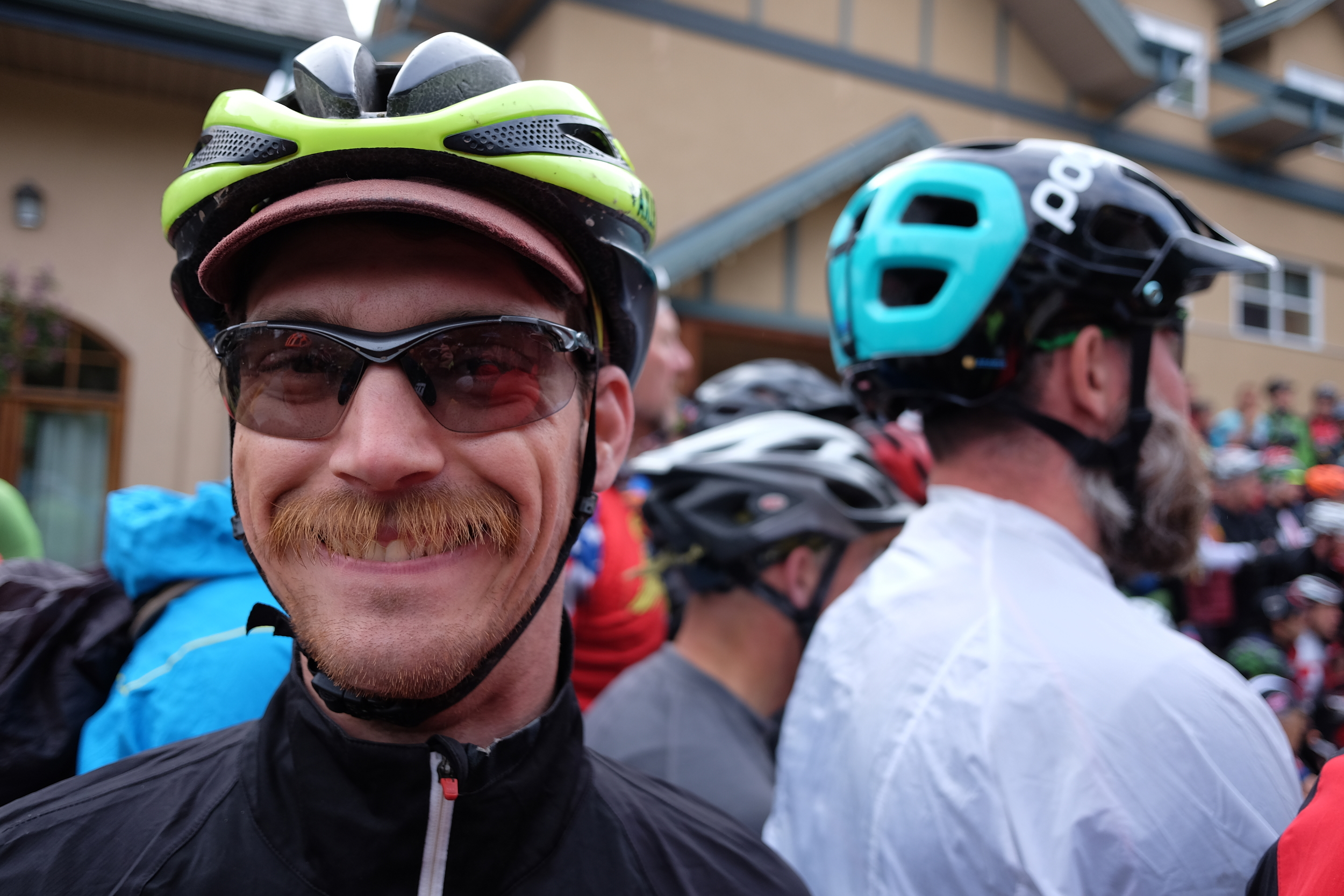 Bailey Newbrey. Chicago, IL native. He finished the race in 19 days and some change. On a single speed Salsa El Mariachi with drops. His mustache only got more manly as the days wore on. Also, he only washed his jersey and bibs once. Rad.