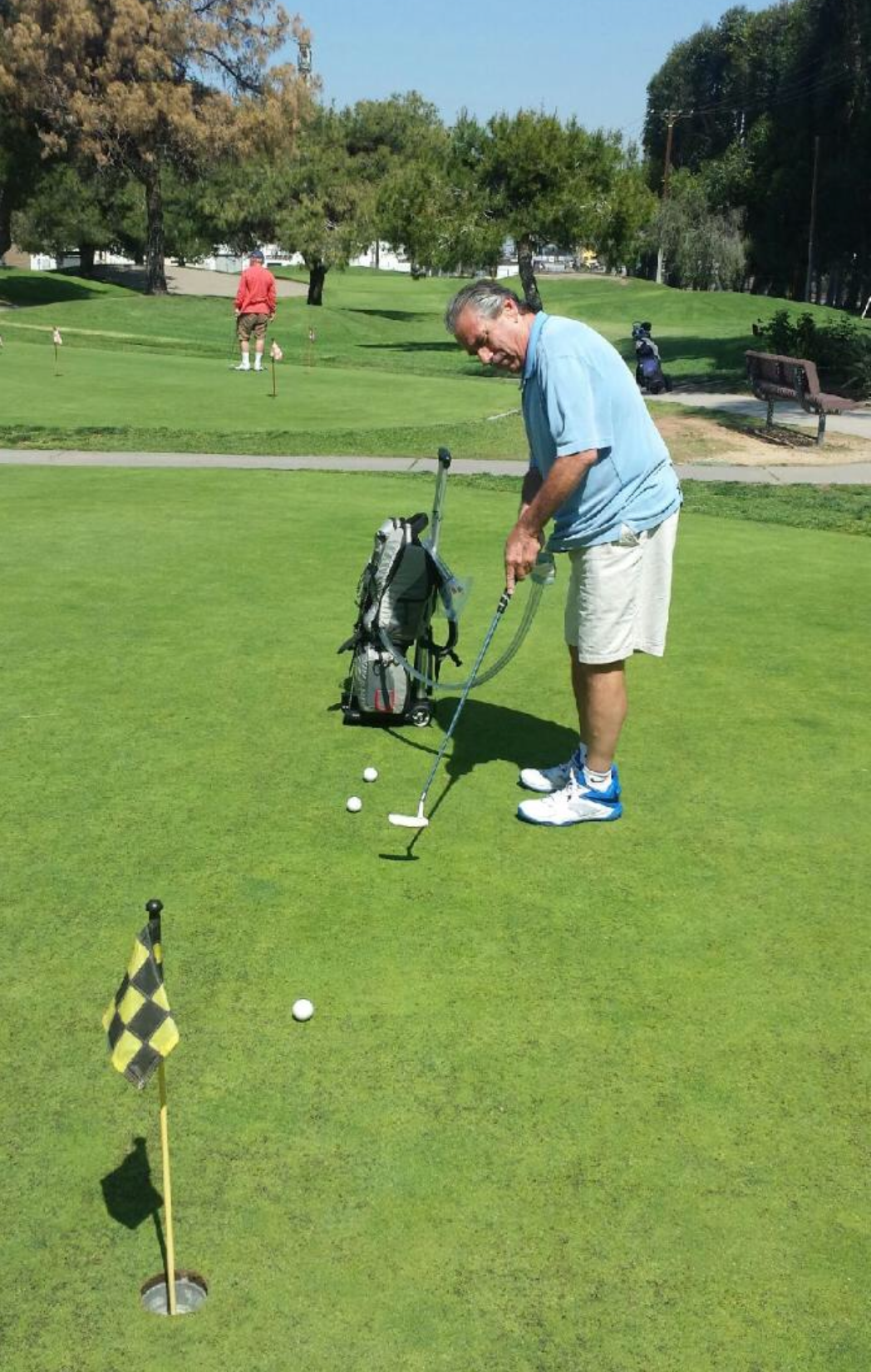 Johnny Lemucchi on the Putting Greens