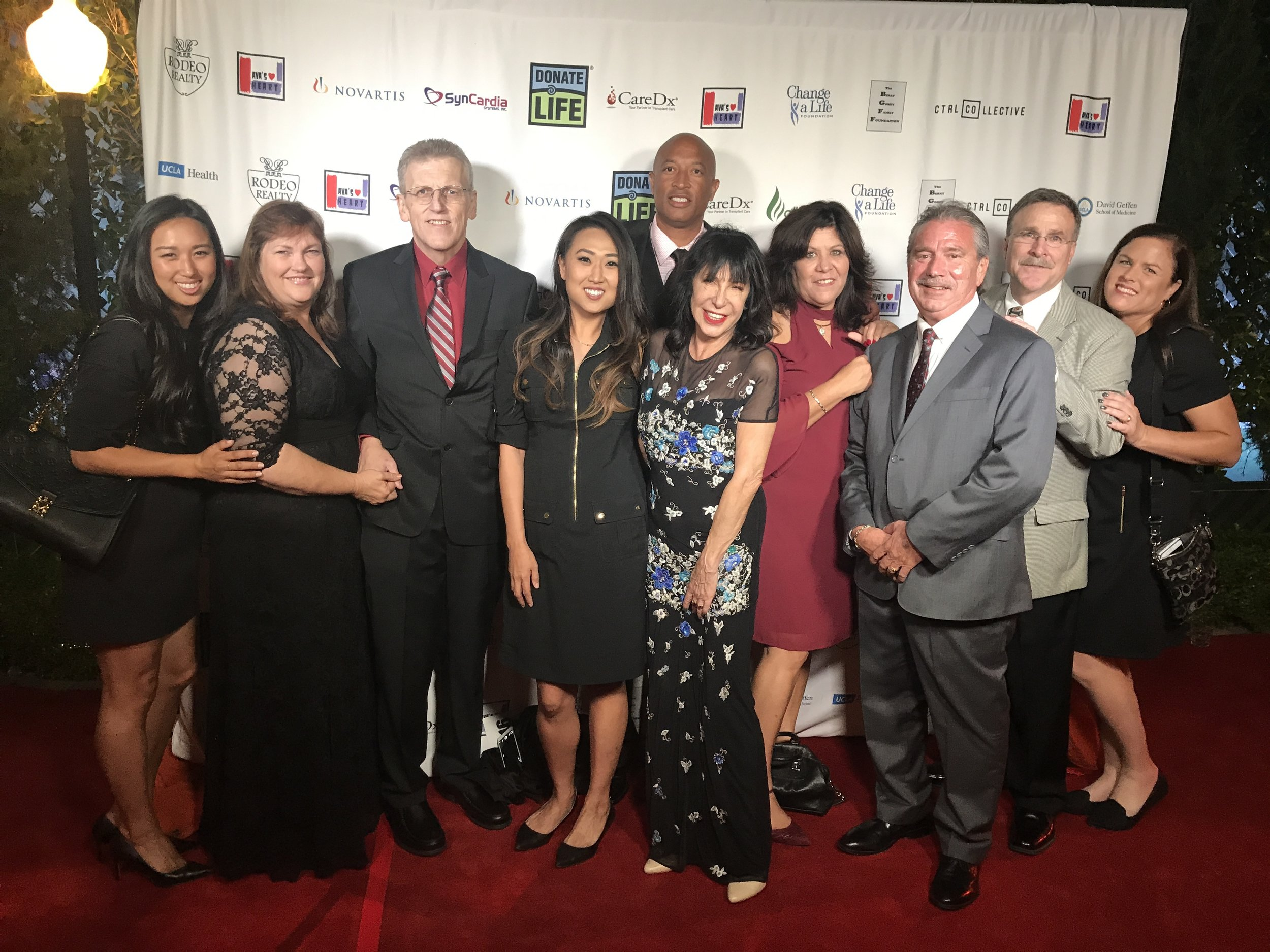 Our transplant family and AVA KAUFMAN, Founder of Ava's Heart Heroes Ball