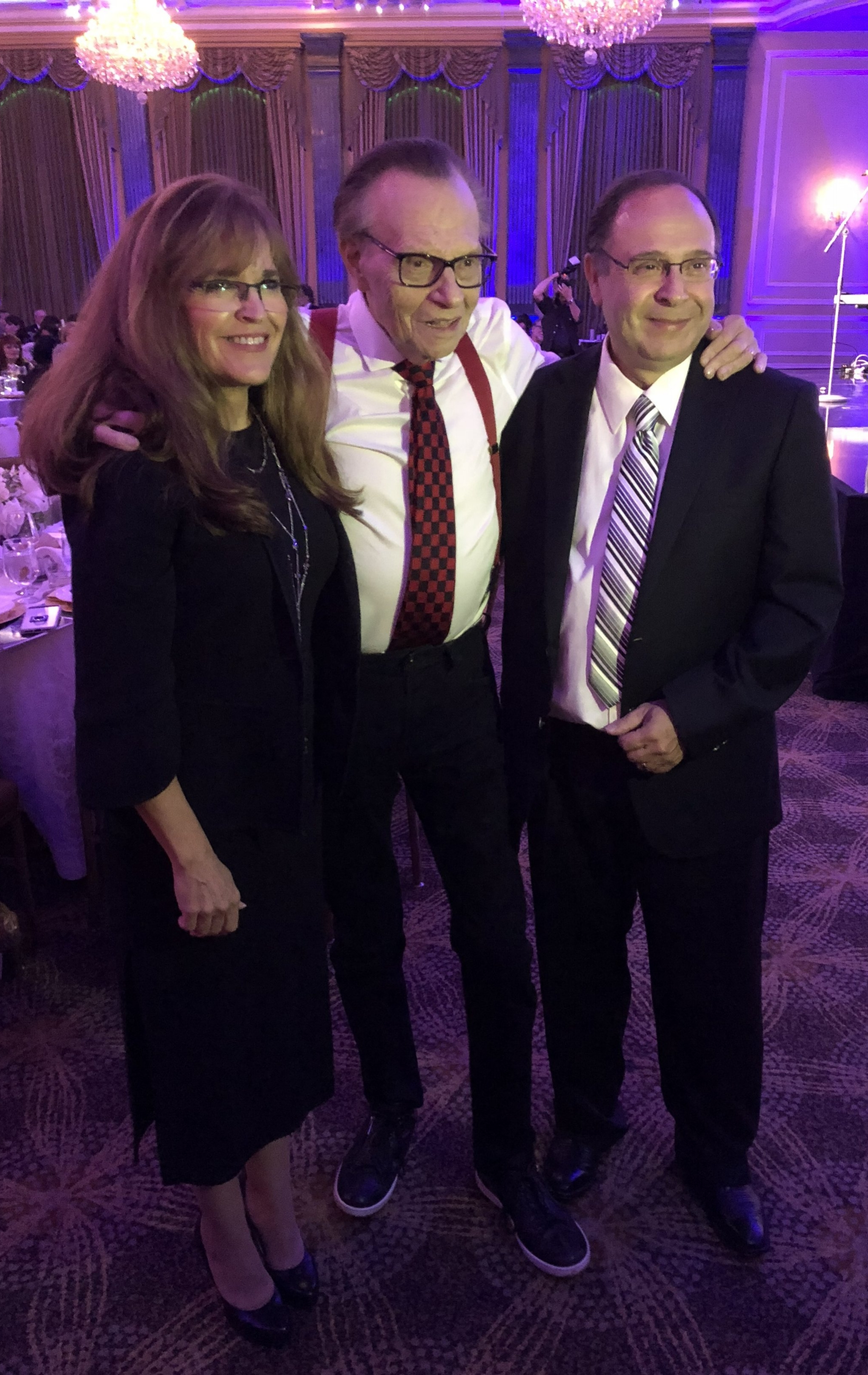 Kathy Arabia R.N., Larry King, Dr. Francisco Arabia