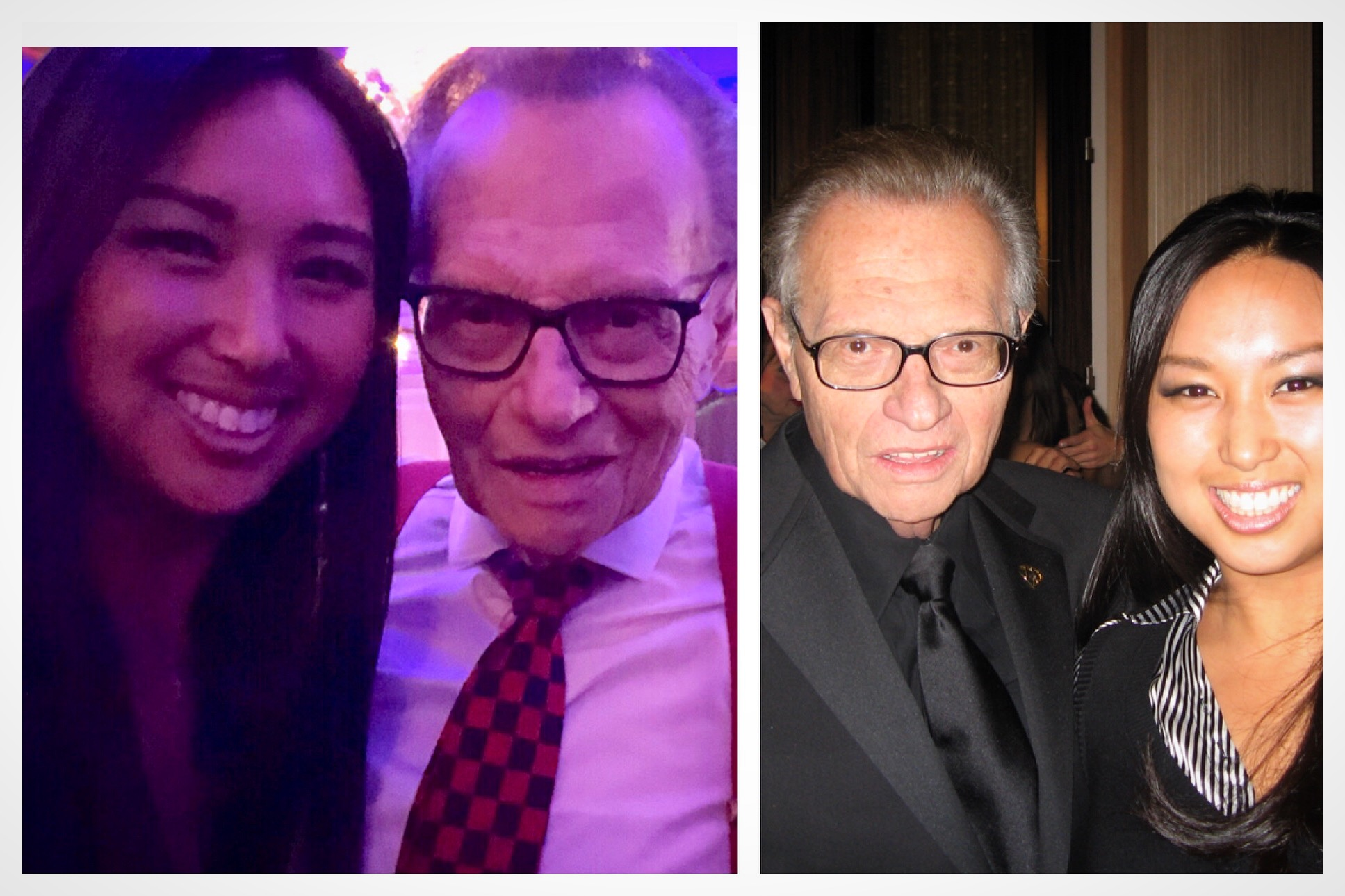 Larry King and I: September 2018 at Ava's Heart Heroes Ball vs. November 2006 at The Larry King Cardiac Foundation Gala
