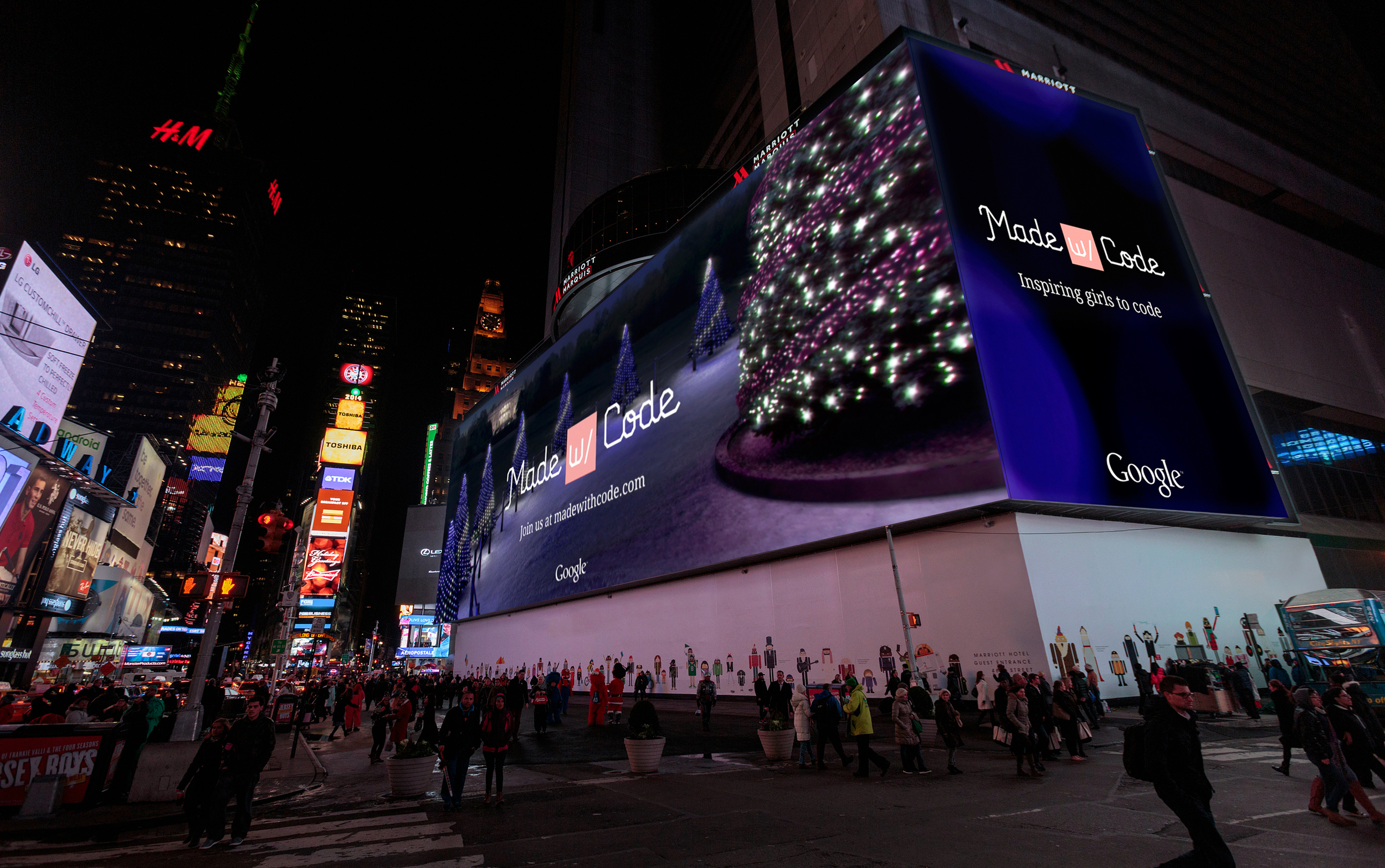 We promoted the project on the largest digital billboard in Times Square