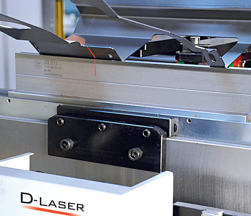 Laser angle measurement system  Manufacturing sheet metal parts with properly bending angles that are kept constant all times often meets a problem during the actual production process: different parameters in material thickness and stresses. The best solution is laser based bending angle measuring device.  Any bending angle can be measured Very compact, everything in the appliance Light influence, light or dark material surfaces play practically no part at all