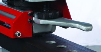 Channel Web Punching  The specially shaped punch station bolster allows punching holes in the web of profiles.