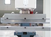 Press Brake Attachment  With top blade and multi V bottom tool. V = 16, 22, 35, 50mm