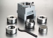Large diameter punching equipment   Punch & die holder up to 100mm with table Punch & die holder up to 160mm with table