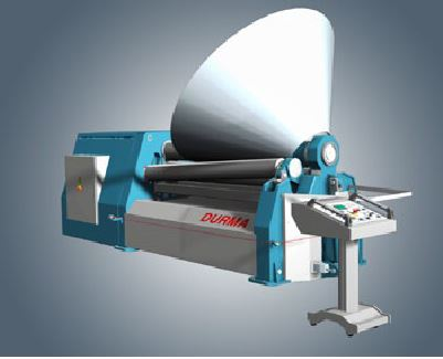 Conical Bending System  Because of the strong machine frame, DURMA plate rolling machines boast conical bending capacities of 1.5 times the top roll diameter. Most other machines in the market can only achieve 3 times the top roll diameter.