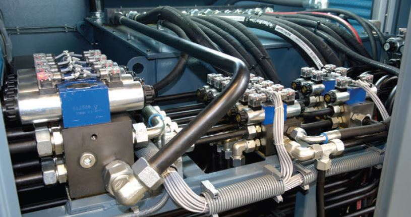 Hydraulic System  Only the World leading hydraulic valve components are used in DURMA machines. This ensures precision movements of all axes and high response speeds. The hydraulic system has pressure safety valves to protect the system from overload.