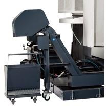 Swarf Management  - Chink link chip conveyor, Includes swarf barrow - Coolant chip flush  - Coolant Wash Gun  - Air Gun