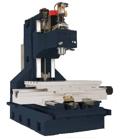 Box Way Construction  - Rigid wide stance column. - The head wraps around the column ways for extreme rigidly.  - 4-ways in Y axis increases flat surface contact area for extreme rigidity - Table and saddle wrap around the box ways - 650mm Y axis travel