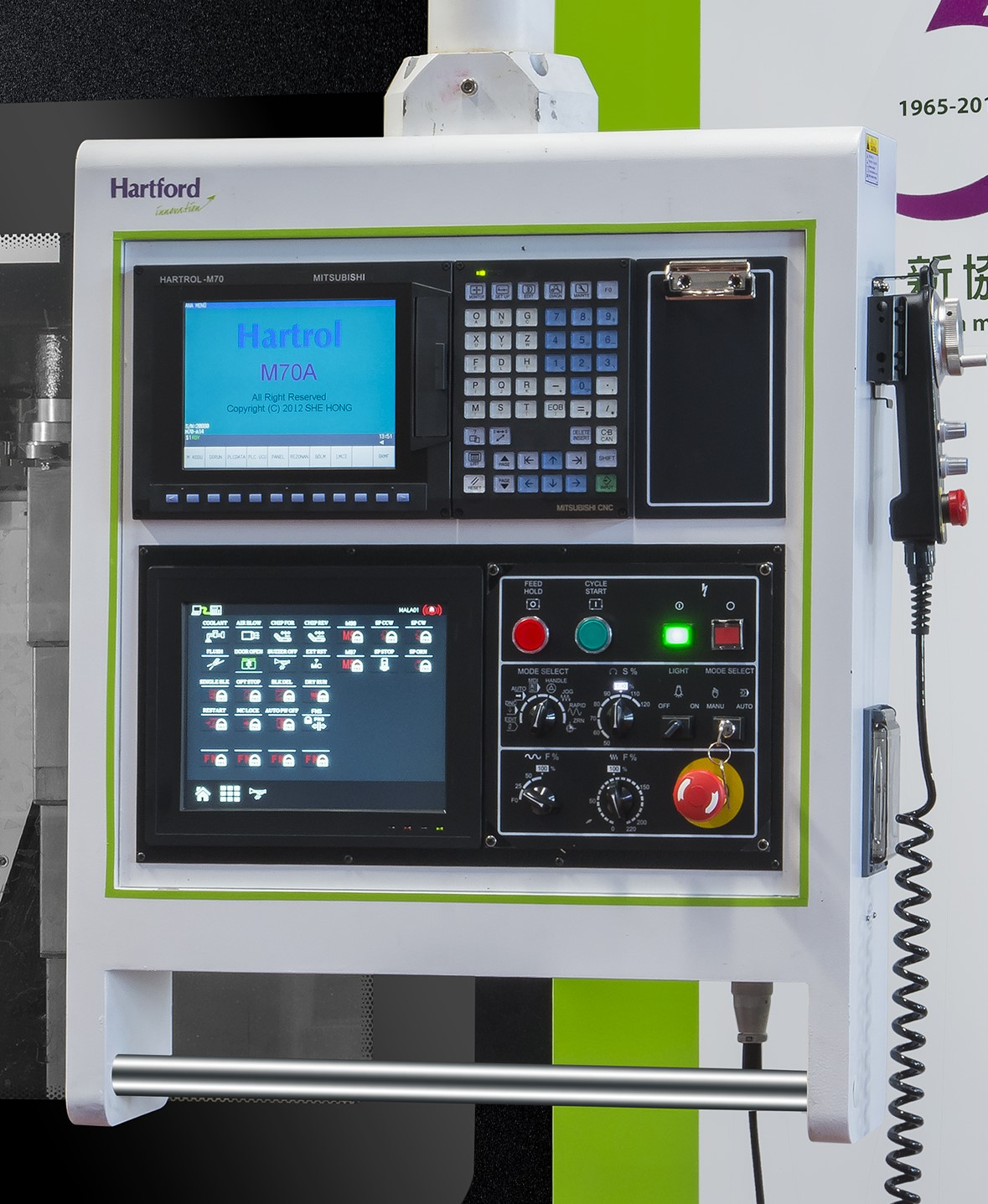 Controller Upgrades  - Fanuc Function: AI, Contour Control-- II, Preread ahead 200 Blocks;  - Fanuc Function: Data server,1 gig of memory;   - NANO smoothing (Includes Contour control II)  - Polar coordinate, command (J818)  - Automatic Power Off, Included
