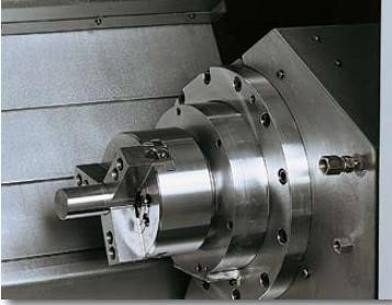 High Efficiency Sub Spindle   The sub spindle features a wrap around design that is liquid cooled for thermal stability. It is brushless, permanently sealed and lubricated.