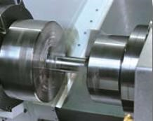 Main & Sub Spindle Synchronisation   Using M62, M63 code programming easily allows the programmer to synchronize the sub spindle with the main spindle for harmonise part exchange.