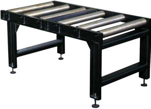 Roller Material Table L=1200mm (RT1200)  As standard the saw is supplied with a 1200mm heavy duty roller table. Extra tables can be purchased for either the in-feed or out-feed side of the saw.