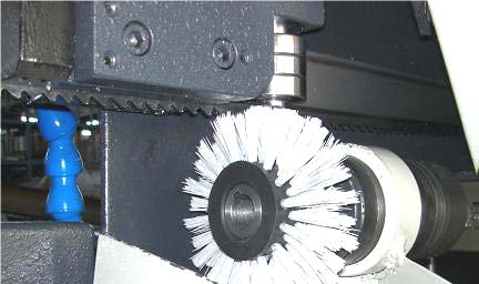 Motorized Chip-Brush (CBM)  A motorised chip brush achieves better cleaning of the blade