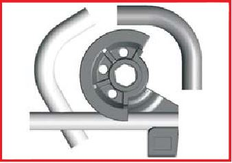 With Ercolina non mandrel machines the operator can program and control the required bend angle, as well as the springback angle, a material elasticity parameter to eliminate material springback effects.