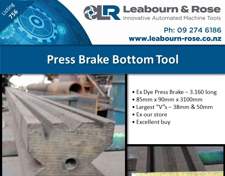 Press Brake Bottom Tool